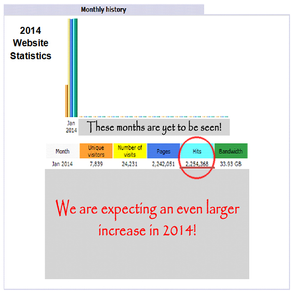 2014 Crafting Website Statistics
