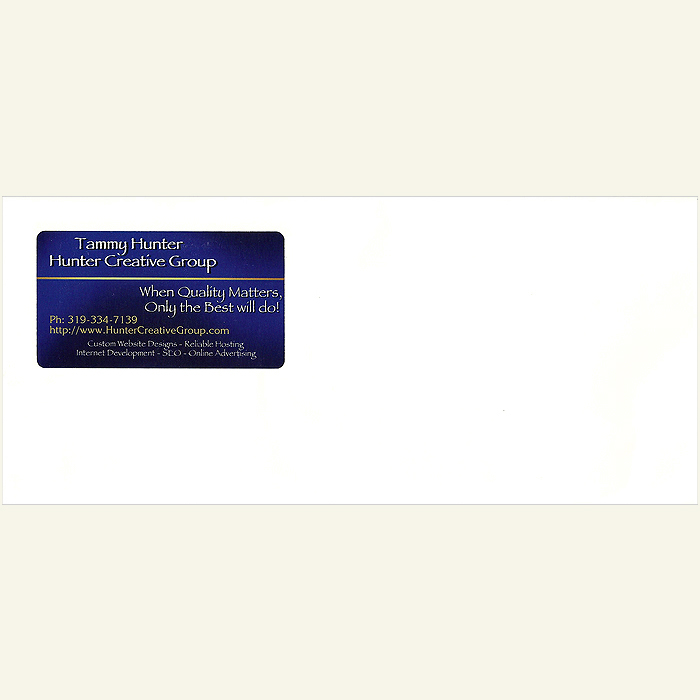 500 Business Card Window Envelopes Advertising Supplies