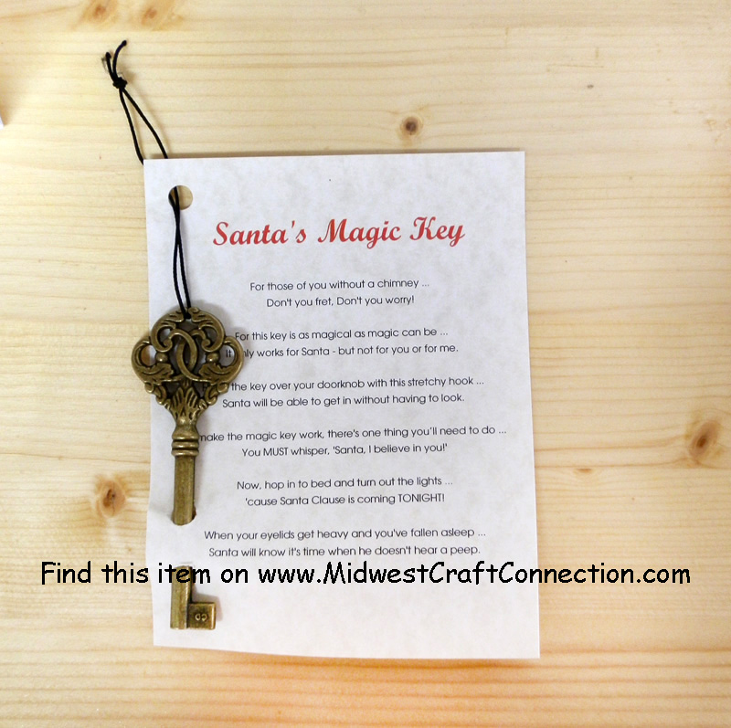 santa 39 s magic key and poem holidays christmas On santa s magic key craft